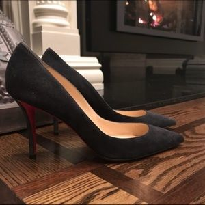 Christian Louboutin Apostrophy Suede Pump